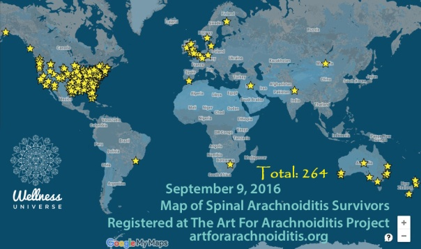 Map of Spinal Arachnoiditis Survivors Registered at the Art For Arachnoiditis Project