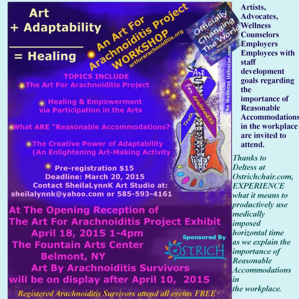 Art+ Adaptability = Healing Workshop Details