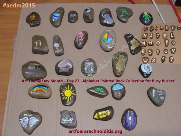 Hand Painted Alphabet Rock Collection