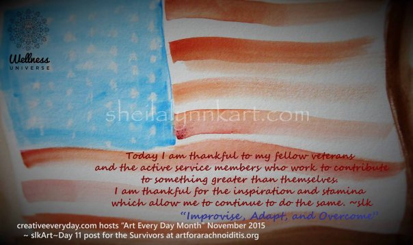 water color U.S. Flag
