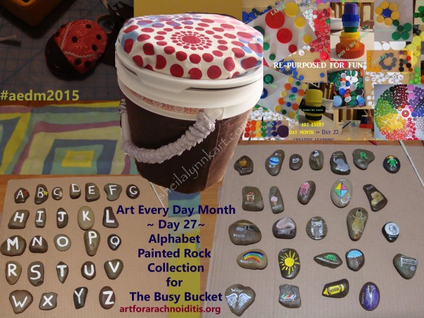 Digital collage of Busy Bucket
